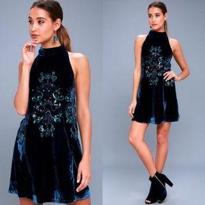 Free People Velvet Sequin Dress